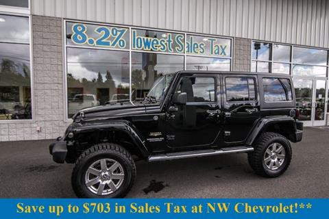 2012 Jeep Wrangler Unlimited for sale in Mckenna, WA