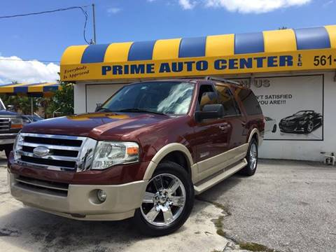 2007 Ford Expedition EL for sale at PRIME AUTO CENTER in Palm Springs FL