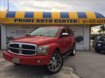 2006 Dodge Durango for sale at PRIME AUTO CENTER in Palm Springs FL