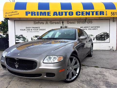 2006 Maserati Quattroporte for sale at PRIME AUTO CENTER in Palm Springs FL