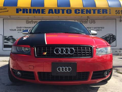 2005 Audi S4 for sale at PRIME AUTO CENTER in Palm Springs FL