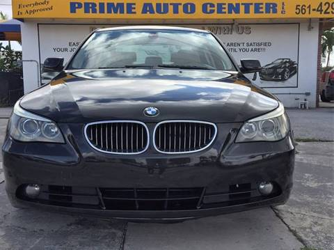 2007 BMW 5 Series for sale at PRIME AUTO CENTER in Palm Springs FL