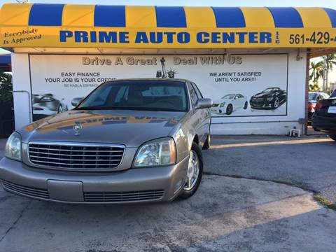 2003 Cadillac DeVille for sale at PRIME AUTO CENTER in Palm Springs FL