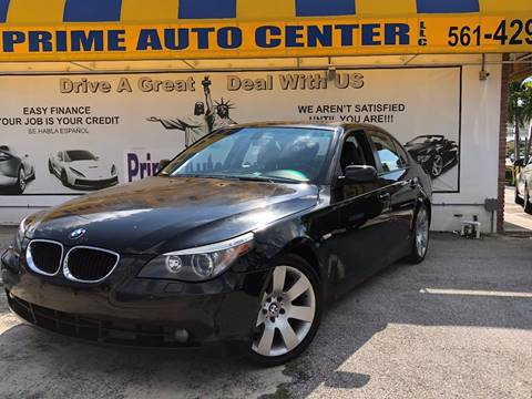 2005 BMW 5 Series for sale at PRIME AUTO CENTER in Palm Springs FL