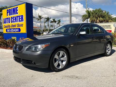 2006 BMW 5 Series for sale at PRIME AUTO CENTER in Palm Springs FL