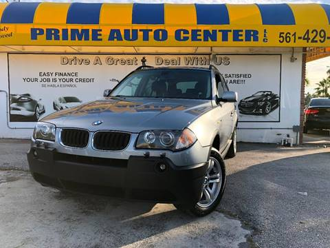2005 BMW X3 for sale at PRIME AUTO CENTER in Palm Springs FL