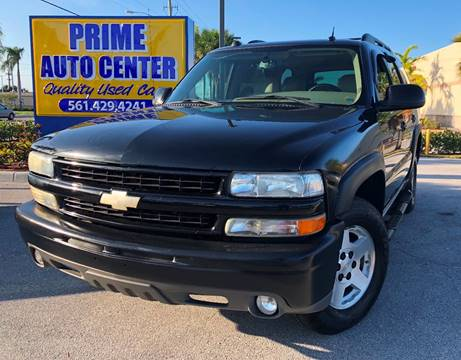 2004 Chevrolet Tahoe for sale at PRIME AUTO CENTER in Palm Springs FL