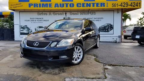 2006 Lexus GS 300 for sale at PRIME AUTO CENTER in Palm Springs FL