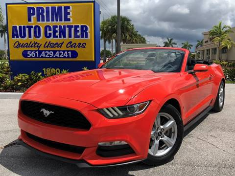 2016 Ford Mustang for sale at PRIME AUTO CENTER in Palm Springs FL