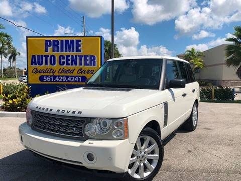 2008 Land Rover Range Rover for sale at PRIME AUTO CENTER in Palm Springs FL