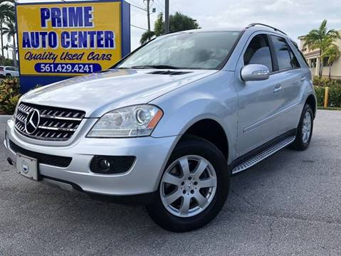 2007 Mercedes-Benz M-Class for sale at PRIME AUTO CENTER in Palm Springs FL
