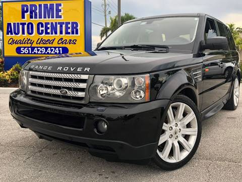 2007 Land Rover Range Rover Sport for sale at PRIME AUTO CENTER in Palm Springs FL