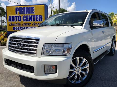 2008 Infiniti QX56 for sale at PRIME AUTO CENTER in Palm Springs FL