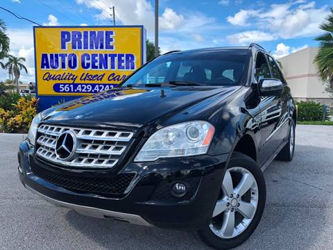 2009 Mercedes-Benz M-Class for sale at PRIME AUTO CENTER in Palm Springs FL