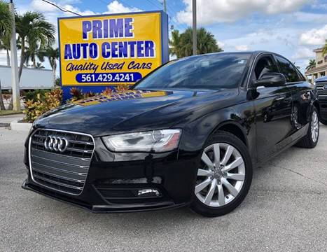 2013 Audi A4 for sale at PRIME AUTO CENTER in Palm Springs FL