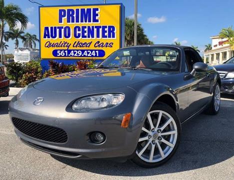 2006 Mazda MX-5 Miata for sale at PRIME AUTO CENTER in Palm Springs FL