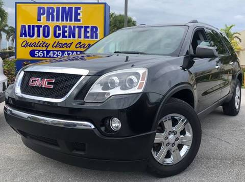 2011 GMC Acadia for sale at PRIME AUTO CENTER in Palm Springs FL