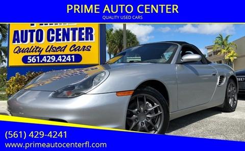 2003 Porsche Boxster for sale at PRIME AUTO CENTER in Palm Springs FL