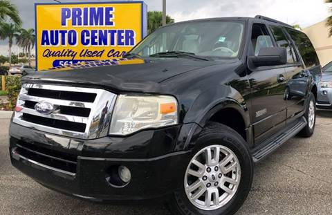 2008 Ford Expedition EL for sale at PRIME AUTO CENTER in Palm Springs FL