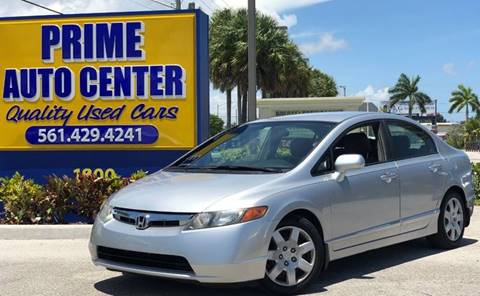 2008 Honda Civic for sale at PRIME AUTO CENTER in Palm Springs FL