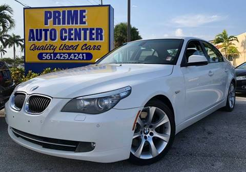 2010 BMW 5 Series for sale at PRIME AUTO CENTER in Palm Springs FL