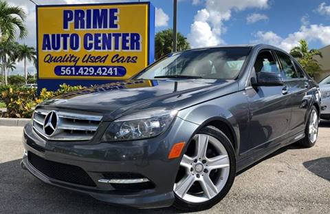 2011 Mercedes-Benz C-Class for sale at PRIME AUTO CENTER in Palm Springs FL