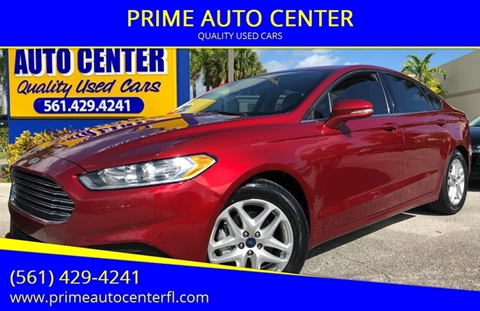2016 Ford Fusion for sale at PRIME AUTO CENTER in Palm Springs FL