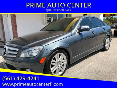 2009 Mercedes-Benz C-Class for sale at PRIME AUTO CENTER in Palm Springs FL