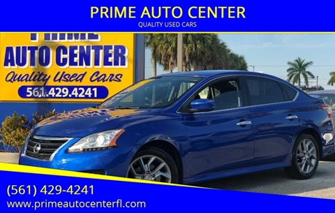 2013 Nissan Sentra for sale at PRIME AUTO CENTER in Palm Springs FL
