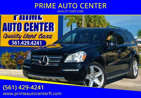 2012 Mercedes-Benz GL-Class for sale at PRIME AUTO CENTER in Palm Springs FL