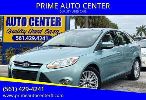 2012 Ford Focus for sale at PRIME AUTO CENTER in Palm Springs FL