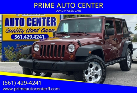 2009 Jeep Wrangler Unlimited for sale at PRIME AUTO CENTER in Palm Springs FL