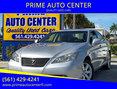 2007 Lexus ES 350 for sale at PRIME AUTO CENTER in Palm Springs FL