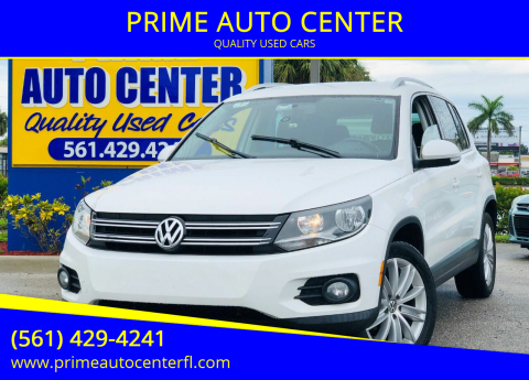 2012 Volkswagen Tiguan for sale at PRIME AUTO CENTER in Palm Springs FL