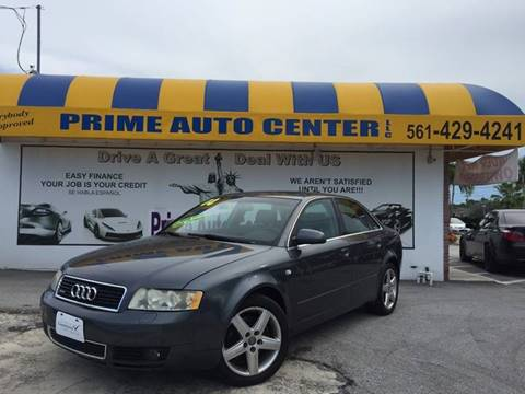 2004 Audi A4 for sale at PRIME AUTO CENTER in Palm Springs FL