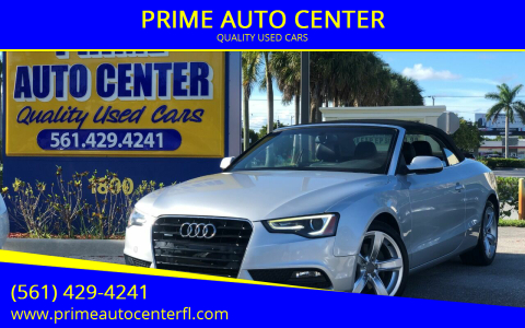 2013 Audi A5 for sale at PRIME AUTO CENTER in Palm Springs FL