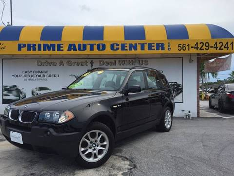 2004 BMW X3 for sale at PRIME AUTO CENTER in Palm Springs FL