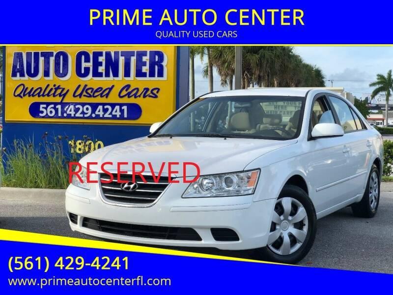 2009 Hyundai Sonata for sale at PRIME AUTO CENTER in Palm Springs FL