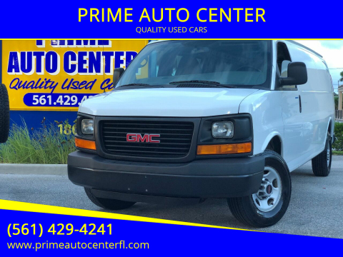 2015 GMC Savana Cargo for sale at PRIME AUTO CENTER in Palm Springs FL