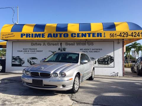 2002 Jaguar X-Type for sale at PRIME AUTO CENTER in Palm Springs FL