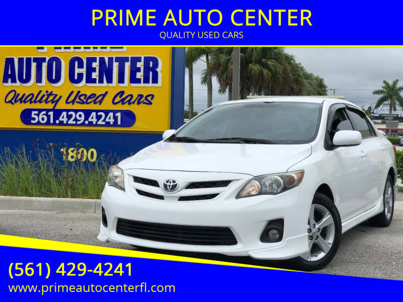 2013 Toyota Corolla for sale at PRIME AUTO CENTER in Palm Springs FL