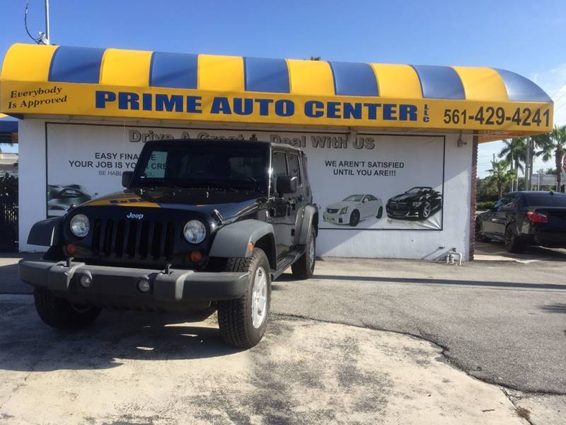 2008 Jeep Wrangler Unlimited for sale at PRIME AUTO CENTER in Palm Springs FL