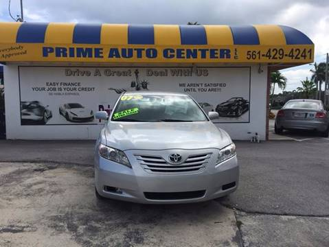 2007 Toyota Camry for sale at PRIME AUTO CENTER in Palm Springs FL