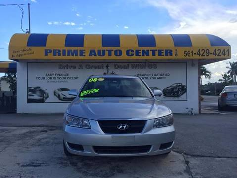 2008 Hyundai Sonata for sale at PRIME AUTO CENTER in Palm Springs FL