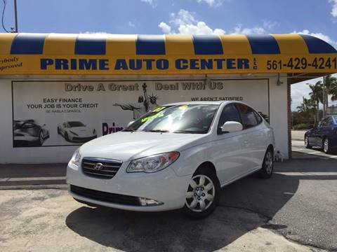 2007 Hyundai Elantra for sale at PRIME AUTO CENTER in Palm Springs FL