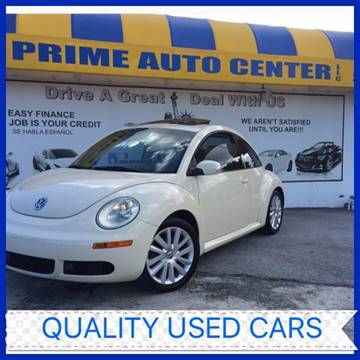2008 Volkswagen New Beetle for sale at PRIME AUTO CENTER in Palm Springs FL