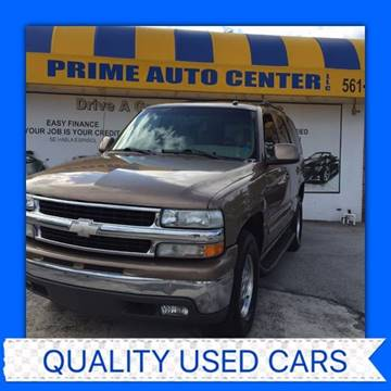 2003 Chevrolet Tahoe for sale at PRIME AUTO CENTER in Palm Springs FL