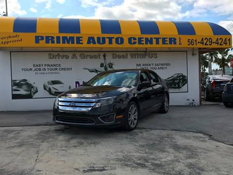 2010 Ford Fusion for sale at PRIME AUTO CENTER in Palm Springs FL