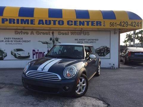 2010 MINI Cooper for sale at PRIME AUTO CENTER in Palm Springs FL