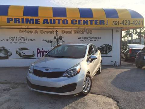 2013 Kia Rio for sale at PRIME AUTO CENTER in Palm Springs FL